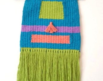 Blue and Green Woven Wall Hanging