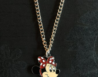 Silver Plated Disney Minnie Mouse Necklace