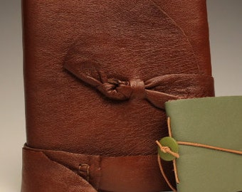 Handmade Brown Leather Notebook