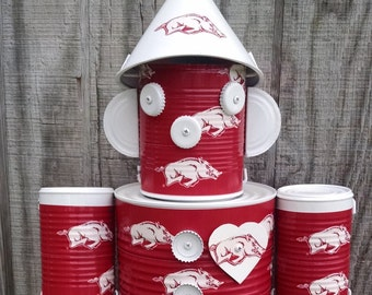 Arkansas Razorbacks metal Tin Man indoor outdoor decor