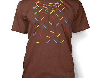 Rainbow Sprinkles mens t-shirt