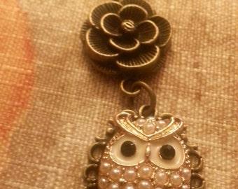 Cute Brass Owl Necklace
