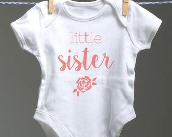 Little Sister Baby Onsie, Little Sister Baby Bodysuit, Little Sister Onsie, Little Sister Baby Shower Gift