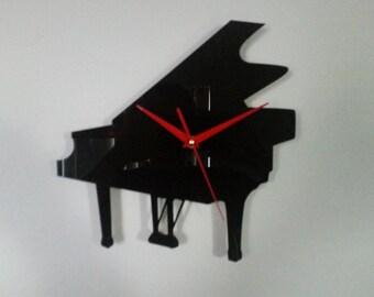 Piano Silhouette Clock