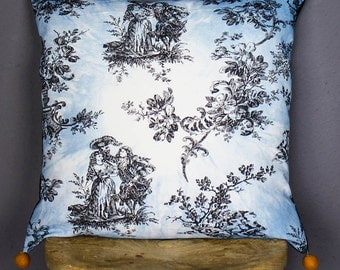 Toile de Pom-Pom cushion cover, eco-friendly