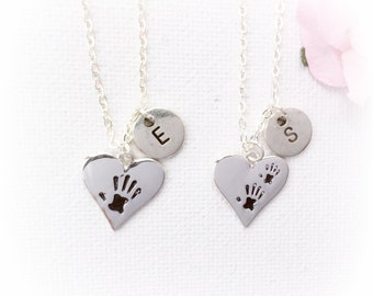 Mother and daughter necklace set, mother daughter jewellery, mother daughter gift,  personalized necklace, mother and daughter jewellery