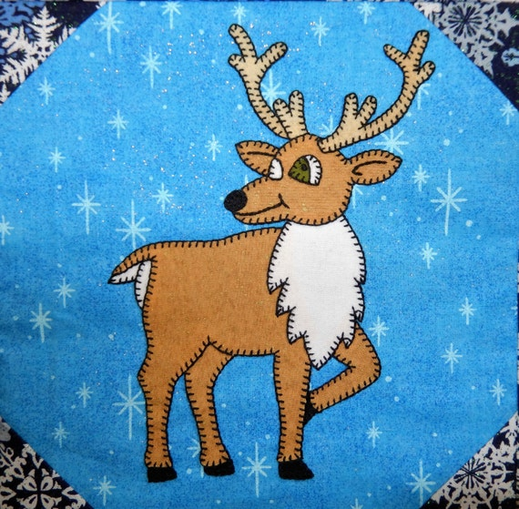 Reindeer Or Caribou Pdf Applique Quilt Block By Mspdesignsusa