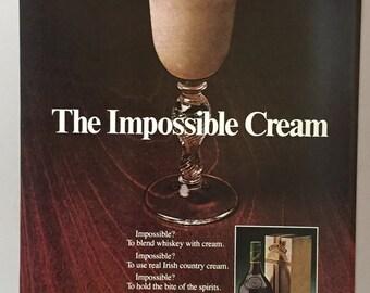 1980 Baileys Irish Cream Liqueur Print Ad