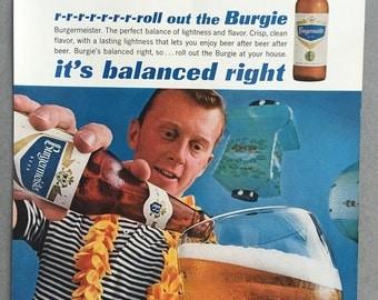 1963 Burgermeister Beer Print Ad - Burgie