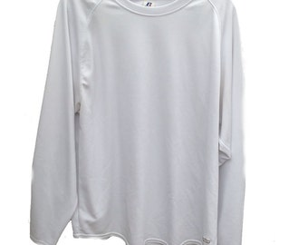 Large Russell Athletic Dri-Power Long Sleeve White Shirt