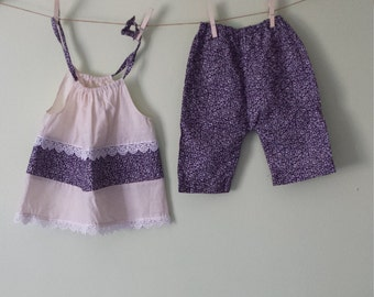 Flower top and Flower pants
