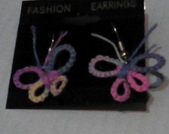 Tatted Butterfly earrings.