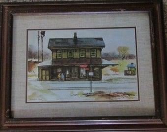 "Ranulph Bye Vintage Watercolor ""Country House"" Framed Print"