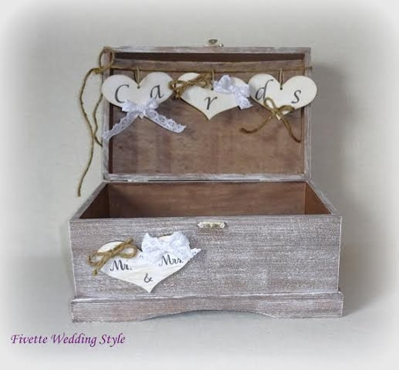 Rustic Wedding Gift Card Holder : Card Box Holder with Burlap and Lace Cards Banner Wedding Card Gift ...