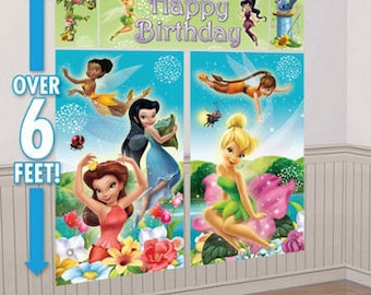 Tinker Bell and the Disney Fairies Giant Scene Setter Wall Decorating Kit 5ct