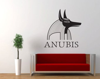Anubis Wall Vinyl Sticker, Egypt Egyptian God Mythology Wall Decor