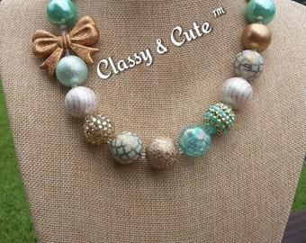Mint Gold Chunky Necklace