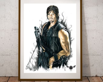 Limited Edition Print - Daryl Dixon (The Walking Dead)