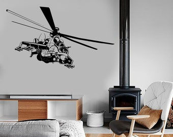 Wall Vinyl Helicopter Strike Airforce Guaranteed Quality Decal Mural Art 1643dz
