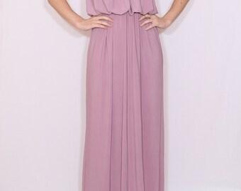 Light purple dress Long Bridesmaid dress Maxi dress