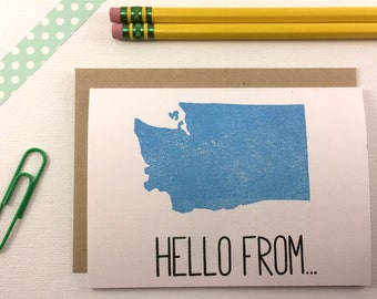 Washington - State Love Stationery - Four Bar Cards - Thank You, Hello From, With Love