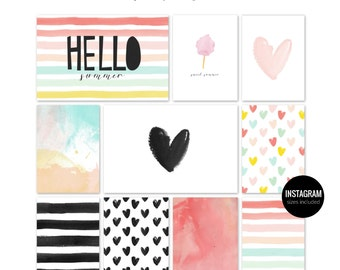 SWEET SUMMER Printable journaling cards for Project Life and scrapbooking-40pcs
