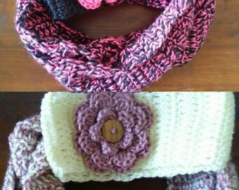 Child Size Scarf and Flower Head Band