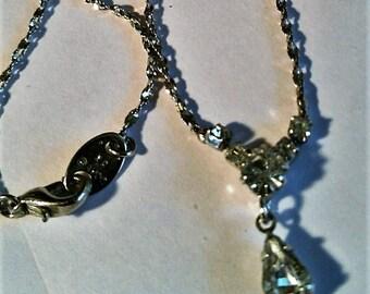 Vintage Avon Rhinestone Necklace- for Wedding or Prom