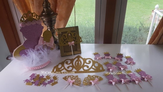 princess baby shower centerpiece food toppers decor table set baby