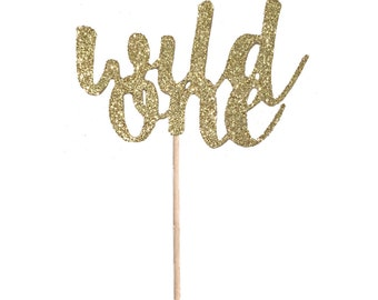 Wild One Cupcake Toppers - Set of 12