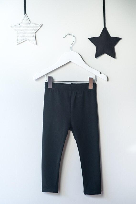 CASTOR - plain long legging - black