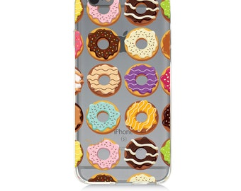 iPhone 7 Clear Case - Donuts  - Protective TPU cover for iPhone 7 7 plus iPhone 6s 6s plus Samsung Galaxy s5 s6 s7 Note 7