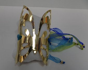 Gold plated Butterfly handcuff