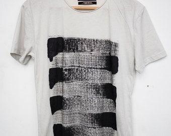 Hand Painted Shirt - Black Minimalist Design
