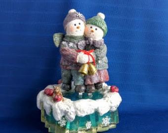 Frosty Folks Snowman Music Box