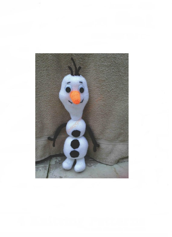 Knitting Pattern For Olaf The Snowman : Olaf Snowman Toy Knitting Pattern DK 18 by VintagePatterns2015