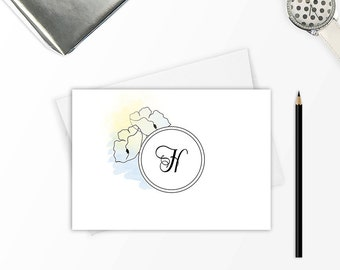 Note cards set, Stationery set, Monogram stationery, Personalized stationary set, Personalized stationery