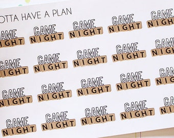 Planner Stickers Game Night for Erin Condren, Happy Planner, Filofax, Scrapbooking