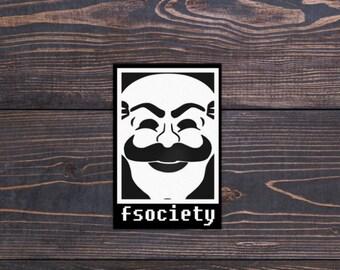 Mr Robot FSociety sticker