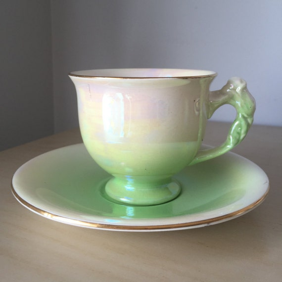Royal Winton Grimwades Vintage Teacup And Saucer Green And