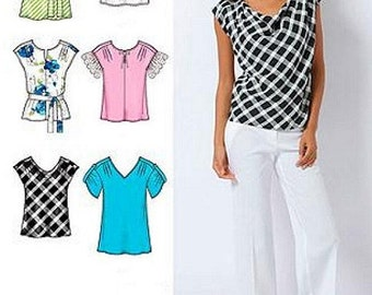 Womans Top Sewing Pattern UNCUT Simplicity 2594 Miss Size 8-16 Easy-to-Sew