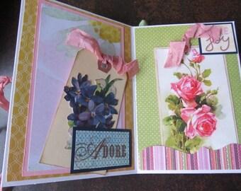 Mini Album, Mini Brag Book, Photo Album, Scrapbook, Pocket Mini Album, Photo Souvenir, Photo Book, Envelope Mini Album
