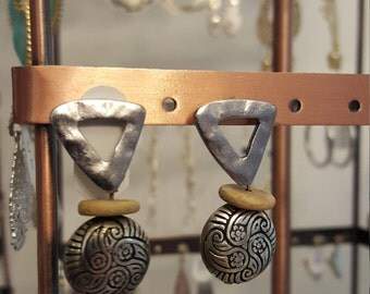 Tribal silver earrings from New Mexico