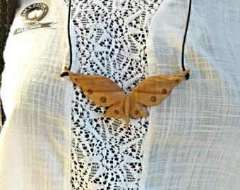 Butterfly, Butterfly pendant, Butterfly Necklace, Wooden butterflay, Butterfly Jewelry, Wooden Jewelry