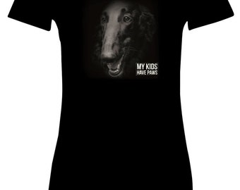 My Kids Have Paws t-shirt/Borzoi t-shirt/Funny borzoi t-shirt/Sighthound hoodie/Gift for Borzoi owner