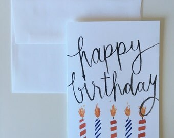 Happy Birthday Blank Greeting Card - Candles