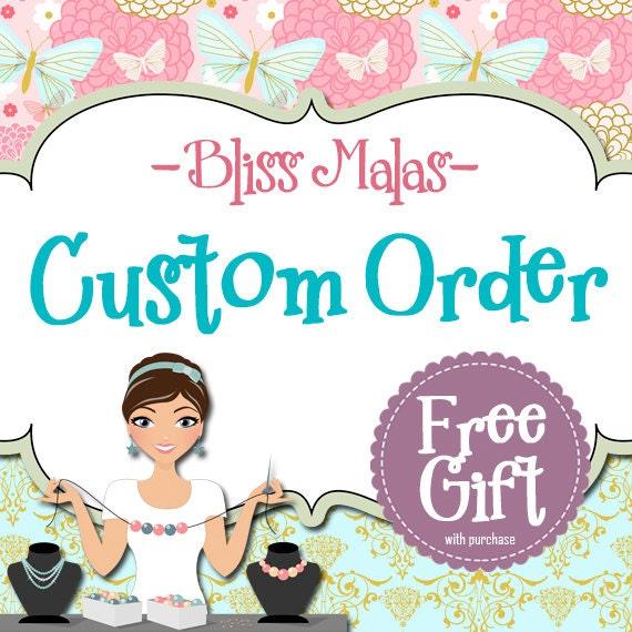 Custom Order & FREE Gift, Handmade Knotted Gemstone Mala, Prayer Beads, Custom Order Bracelets, Pocket Malas, No Need to Purchase, Info Only