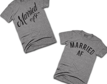 Married AF T-shirts Wedding Gift Package - Funny Wedding Gift - Bridal Shower Gift