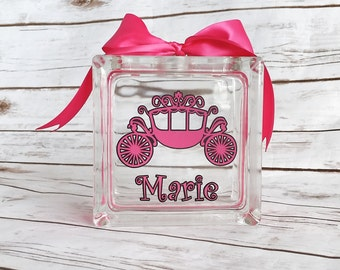 Princess piggy bank - personalized bank - piggy bank - baby shower gift - birthday gift - princess nursery decor - princess room decor