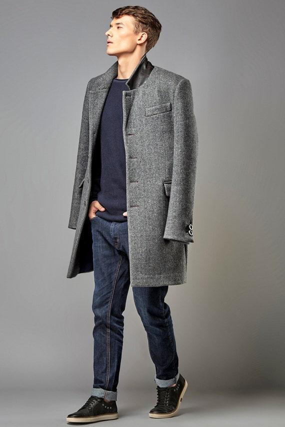 Mens coat mens wool coat mens overcoat wool coat men mens
